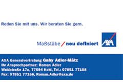 Axa Versicherung Gabi Adler-Mätz